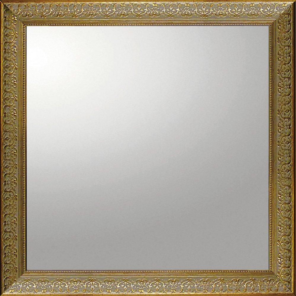 ミラー デコラティブ 大型ミラー デコラティブ「正方形(ゴールド)」/鏡 壁掛け 卓上 手鏡 鏡台 収納 おしゃれ 飾る 美容 お化粧 顔 インテリア 新築祝い 改築祝い 3Lサイズ 巣ごもり
