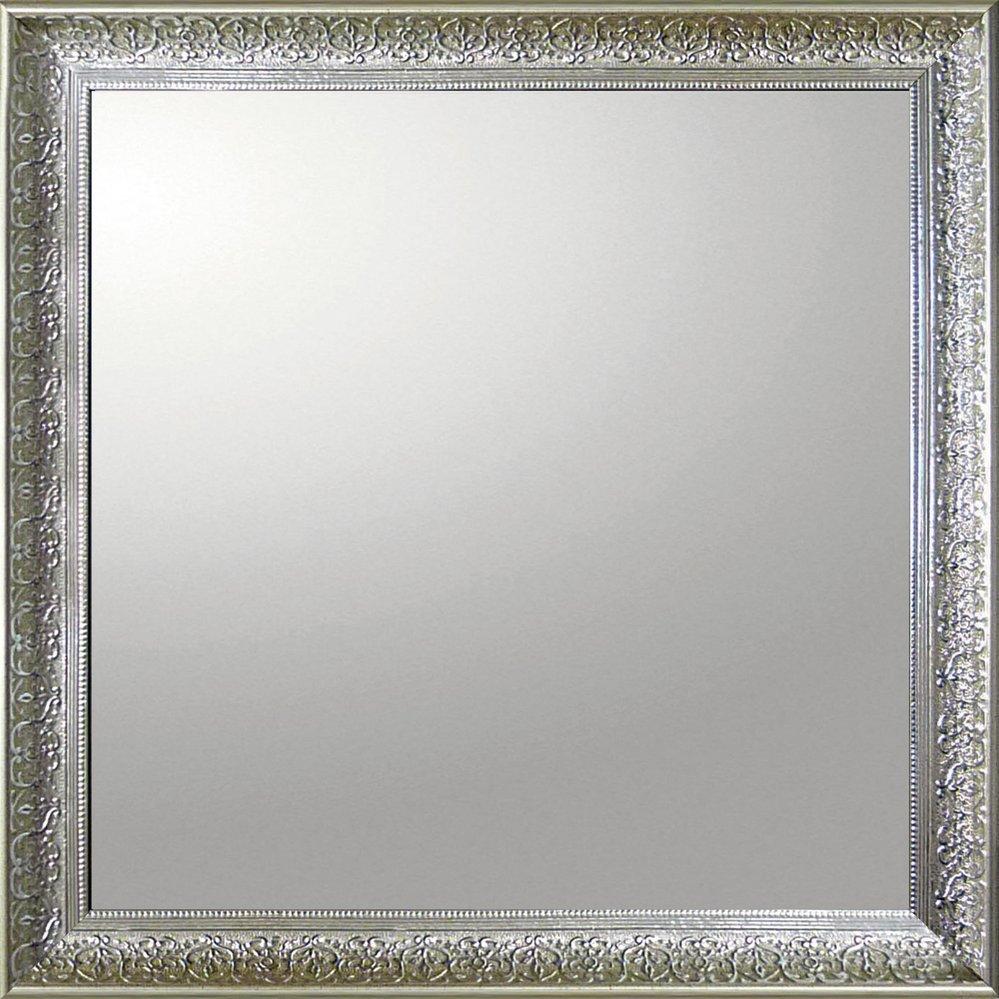 ミラー デコラティブ 大型ミラー デコラティブ「正方形(シルバー)」/鏡 壁掛け 卓上 手鏡 鏡台 収納 おしゃれ 飾る 美容 お化粧 顔 インテリア 新築祝い 改築祝い 3Lサイズ 巣ごもり