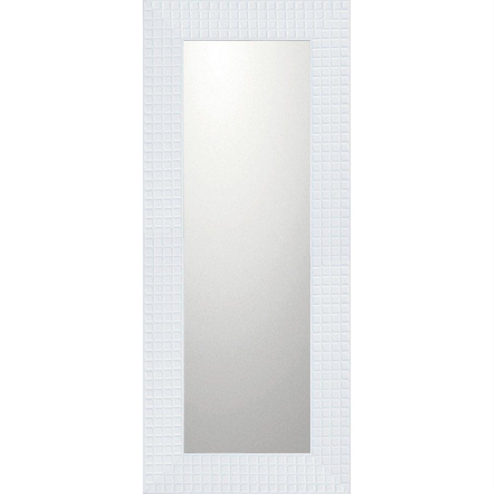 ミラー デコラティブ 大型ミラー タイル「ロング(ホワイト)」/鏡 壁掛け 卓上 手鏡 鏡台 収納 おしゃれ 美容 お化粧 顔 インテリア 新築祝い 改築祝い 4Lサイズ
