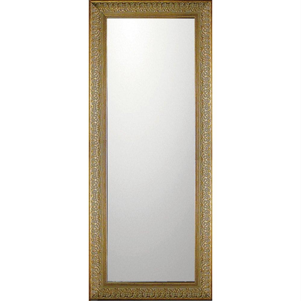 ミラー デコラティブ 大型ミラー デコラティブ「ロング(ゴールド)」/鏡 壁掛け 卓上 手鏡 鏡台 収納 おしゃれ 飾る 美容 お化粧 顔 インテリア 新築祝い 改築祝い 4Lサイズ