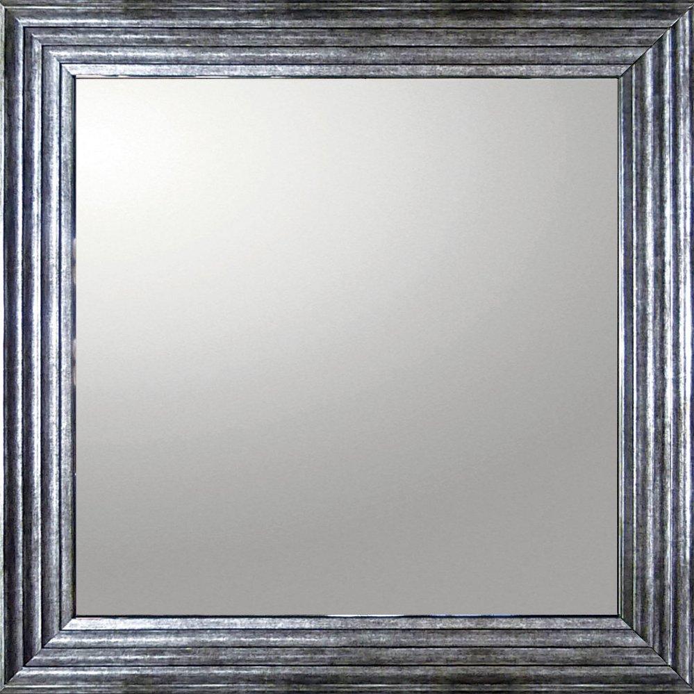 ミラー デコラティブ 大型ミラー シャープ「正方形(アンティーク シルバー)」/鏡 壁掛け 卓上 手鏡 鏡台 収納 おしゃれ 飾る 美容 お化粧 顔 インテリア 新築祝い 改築祝い 4Lサイズ 巣ごもり