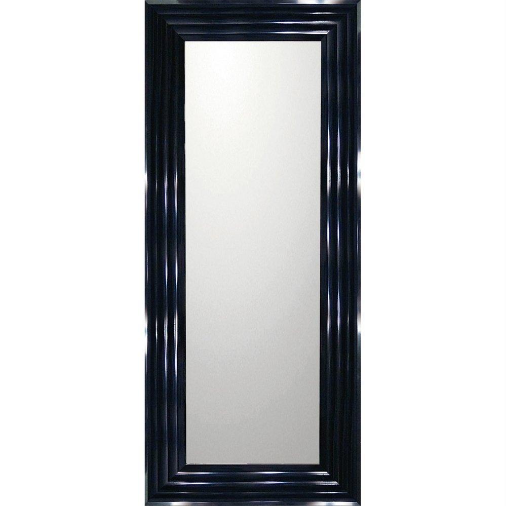 ミラー デコラティブ 大型ミラー シャープ「ロング(ブラック)」/鏡 壁掛け 卓上 手鏡 鏡台 収納 おしゃれ 飾る 美容 お化粧 顔 インテリア 新築祝い 改築祝い 4Lサイズ 巣ごもり
