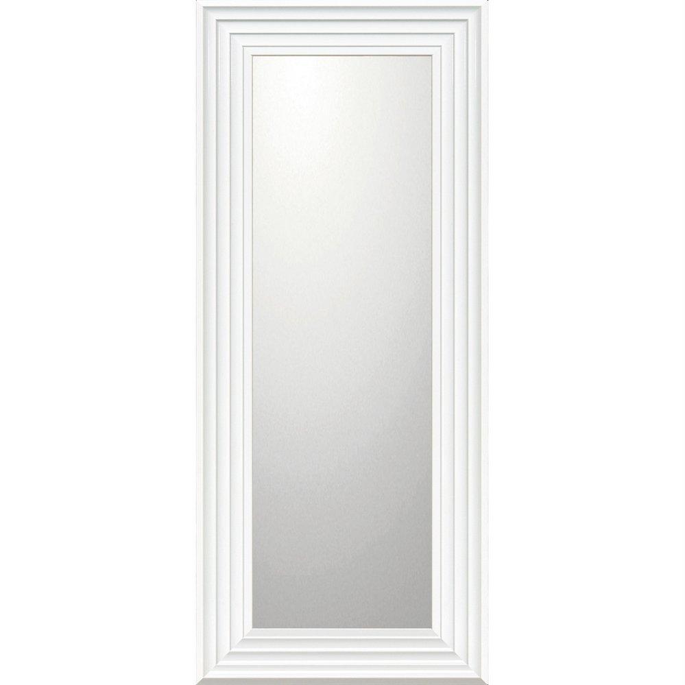 ミラー デコラティブ 大型ミラー シャープ「ロング(ホワイト)」/鏡 壁掛け 卓上 手鏡 鏡台 収納 おしゃれ 飾る 美容 お化粧 顔 インテリア 新築祝い 改築祝い 4Lサイズ 巣ごもり