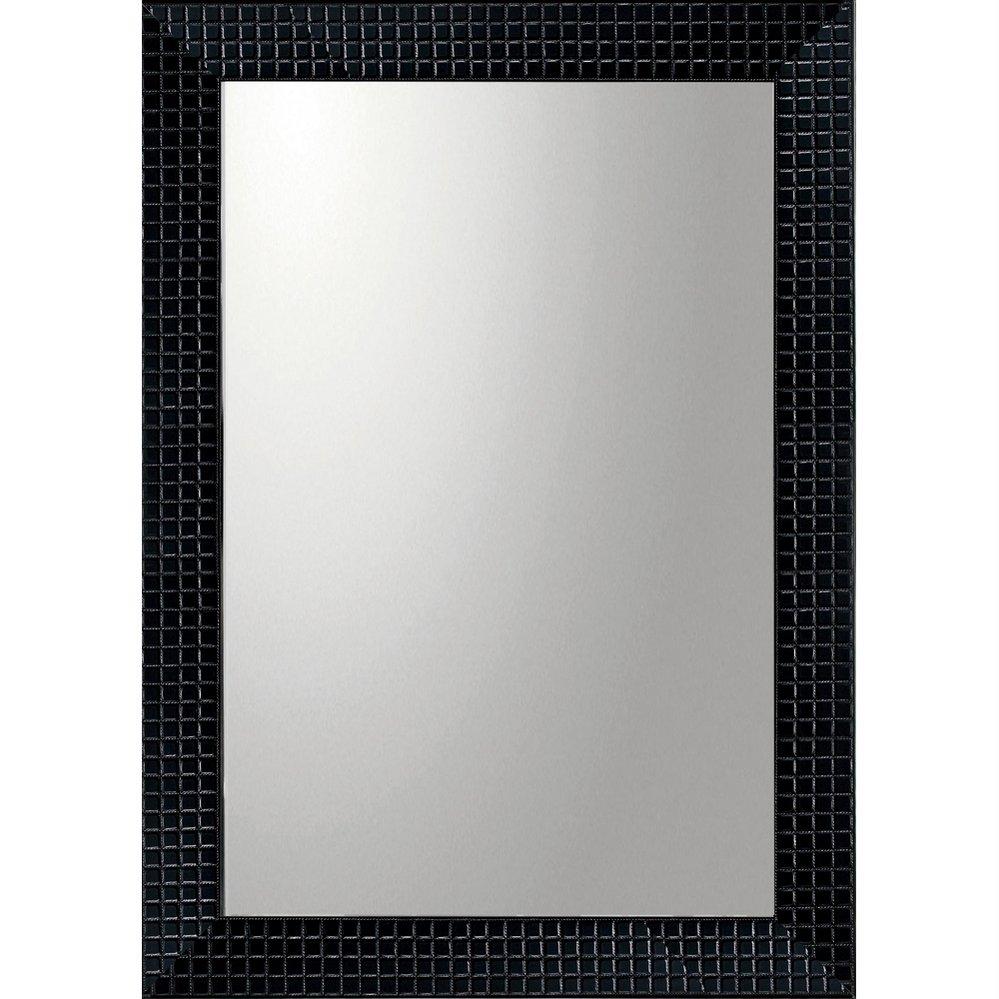 ミラー デコラティブ 大型ミラー タイル「長方形(ブラック)」/鏡 壁掛け 卓上 手鏡 鏡台 収納 おしゃれ 飾る 美容 お化粧 顔 インテリア 新築祝い 改築祝い 5Lサイズ 巣ごもり