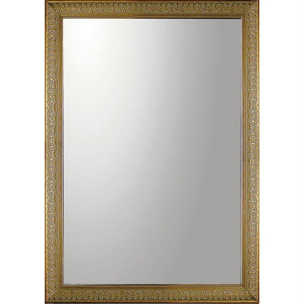 ミラー デコラティブ 大型ミラー デコラティブ「長方形(ゴールド)」/鏡 壁掛け 卓上 手鏡 鏡台 収納 おしゃれ 飾る 美容 お化粧 顔 インテリア 新築祝い 改築祝い 5Lサイズ 巣ごもり