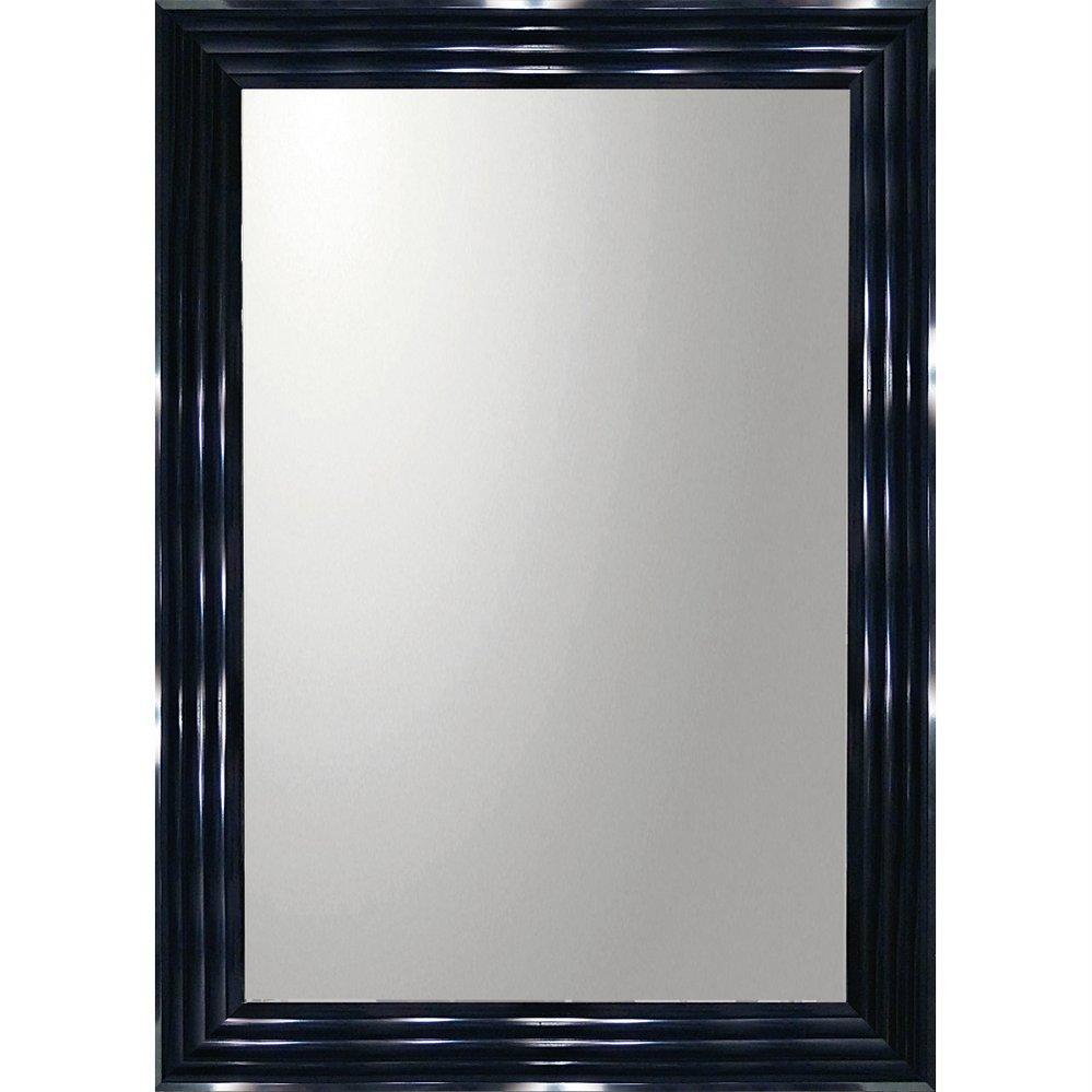 ミラー デコラティブ 大型ミラー シャープ「長方形(ブラック)」/鏡 壁掛け 卓上 手鏡 鏡台 収納 おしゃれ 飾る 美容 お化粧 顔 インテリア 新築祝い 改築祝い 5Lサイズ 巣ごもり