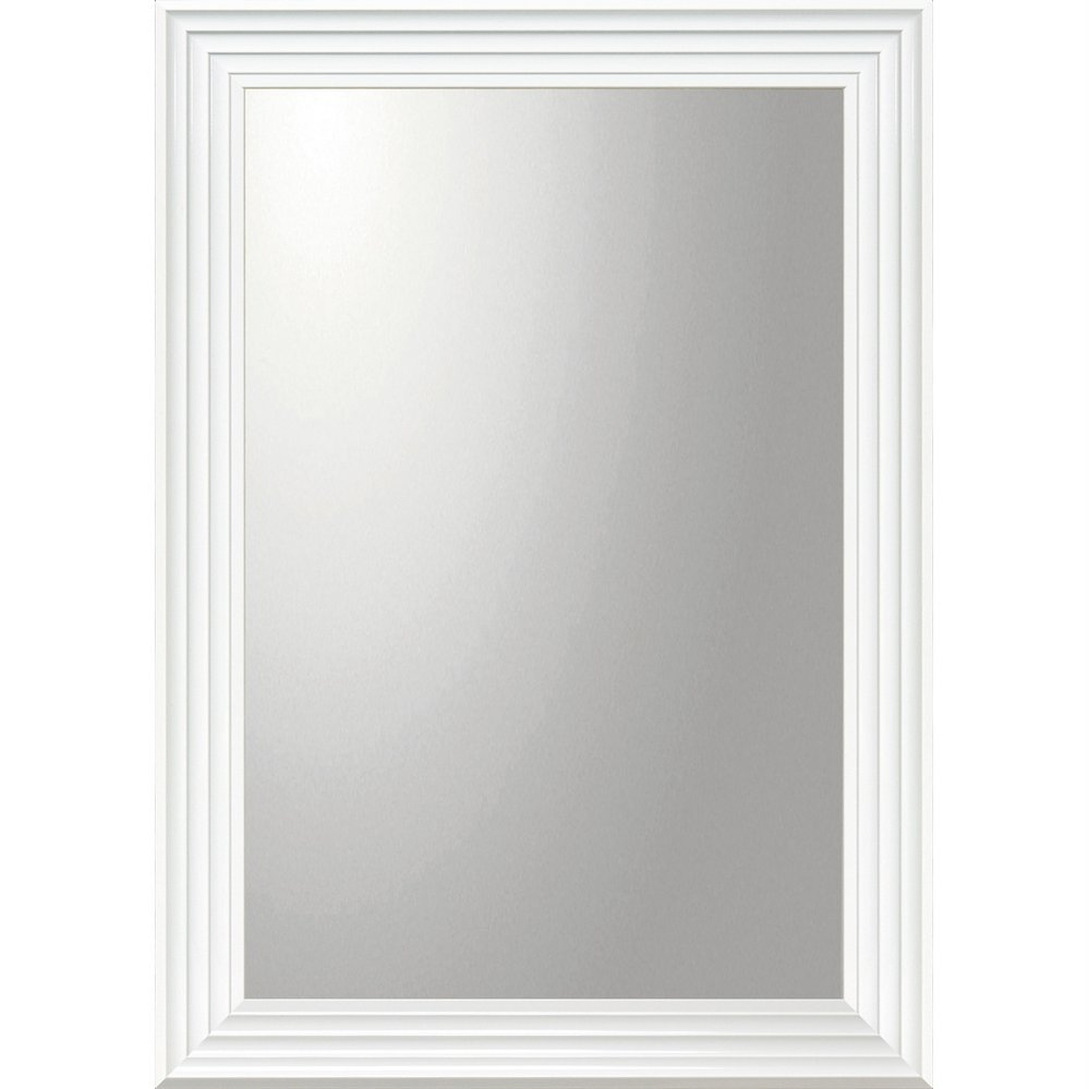 ミラー デコラティブ 大型ミラー シャープ「長方形(ホワイト)」/鏡 壁掛け 卓上 手鏡 鏡台 収納 おしゃれ 飾る 美容 お化粧 顔 インテリア 新築祝い 改築祝い 5Lサイズ 巣ごもり