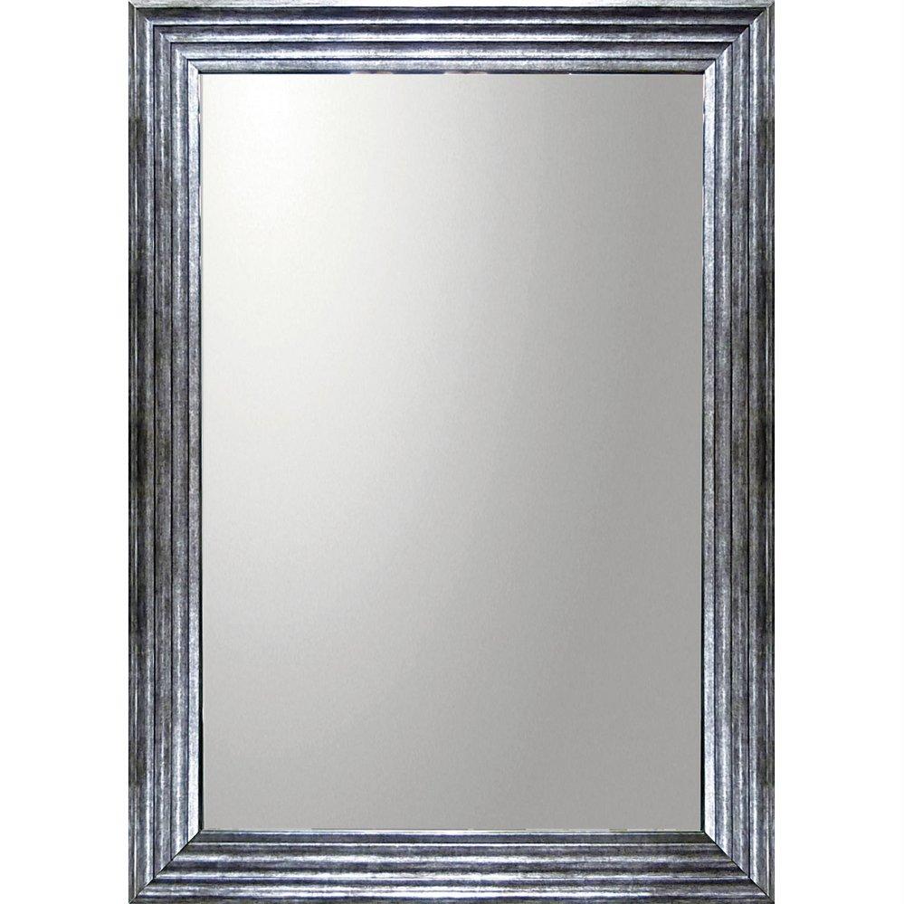ミラー デコラティブ 大型ミラー シャープ「長方形(アンティーク シルバー)」/鏡 壁掛け 卓上 手鏡 鏡台 収納 おしゃれ 飾る 美容 お化粧 顔 インテリア 新築祝い 改築祝い 5Lサイズ 巣ごもり