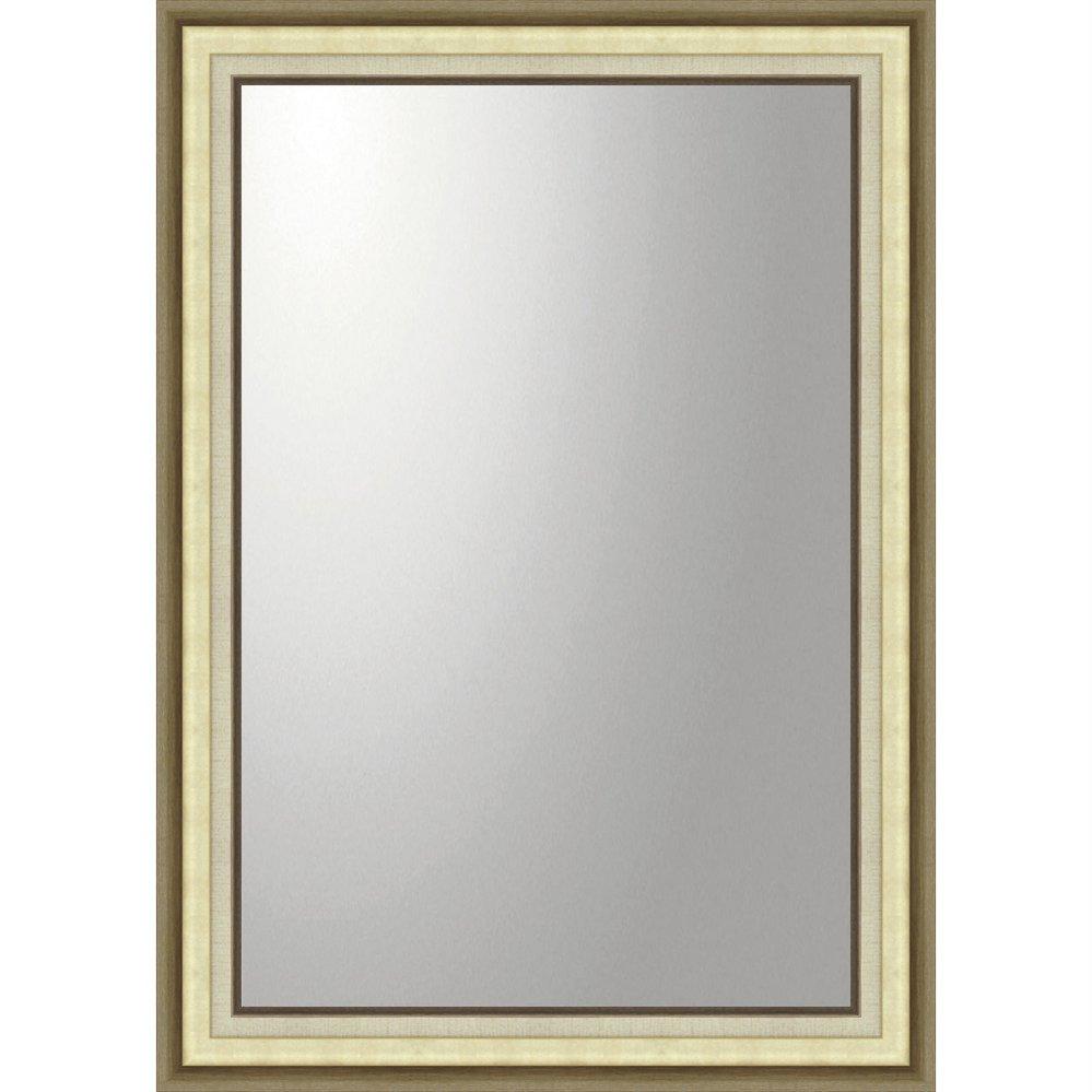 ミラー デコラティブ 大型ミラー モダン「長方形(ゴールド)」/鏡 壁掛け 卓上 手鏡 鏡台 収納 おしゃれ 飾る 美容 お化粧 顔 インテリア 新築祝い 改築祝い 5Lサイズ 巣ごもり