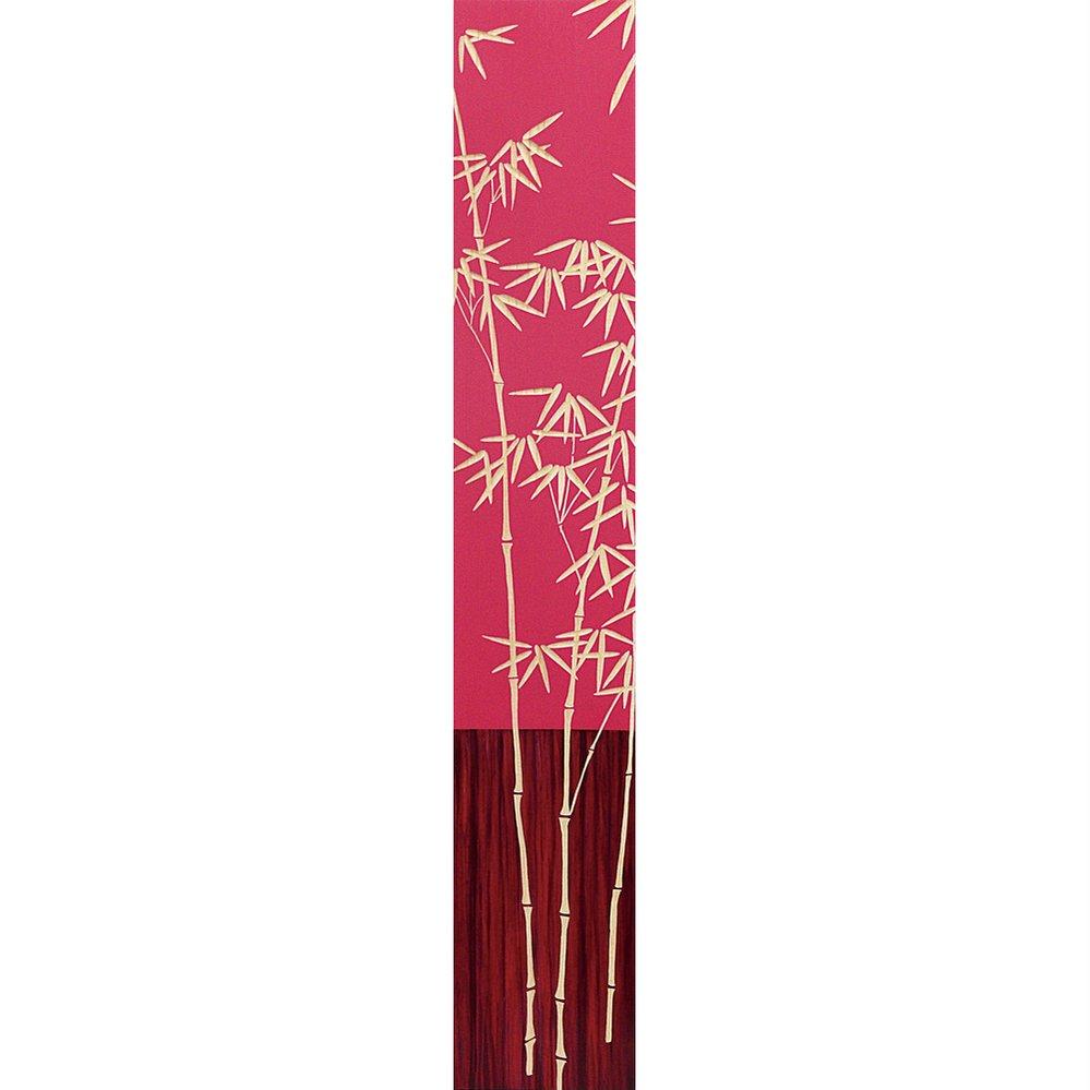 木彫りアート ウッド スカルプチャー アート「バンブー2(RD+NP)」/インテリア 壁掛け 額入り 額装込 風景画 油絵 ポスター アート アートパネル リビング 玄関 プレゼント 花 4Lサイズ