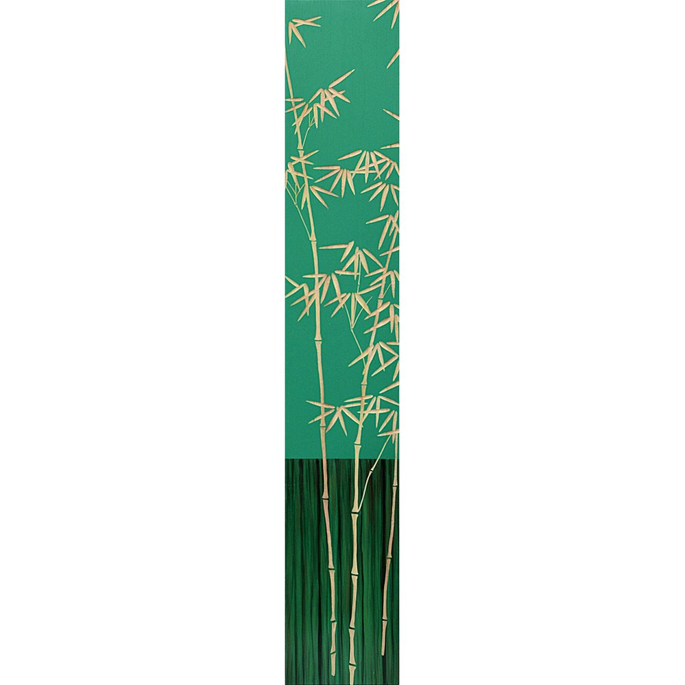 木彫りアート ウッド スカルプチャー アート「バンブー2(GR+NP)」/インテリア 壁掛け 額入り 額装込 風景画 油絵 ポスター アート アートパネル リビング 玄関 プレゼント 花 4Lサイズ 巣ごもり