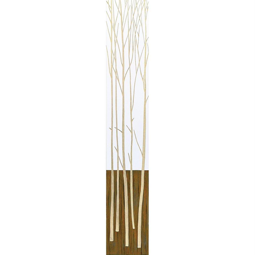 木彫りアート ウッド スカルプチャー アート「ツリー2(WH+NP)」/インテリア 壁掛け 額入り 油絵 ポスター アート アートパネル リビング 玄関 プレゼント 花 4Lサイズ