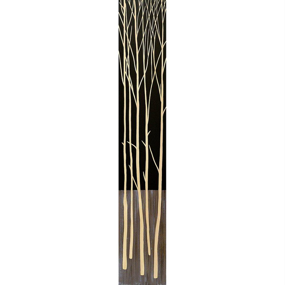 木彫りアート ウッド スカルプチャー アート「ツリー2(BK+NP)」/インテリア 壁掛け 額入り 油絵 ポスター アート アートパネル リビング 玄関 プレゼント 花 4Lサイズ