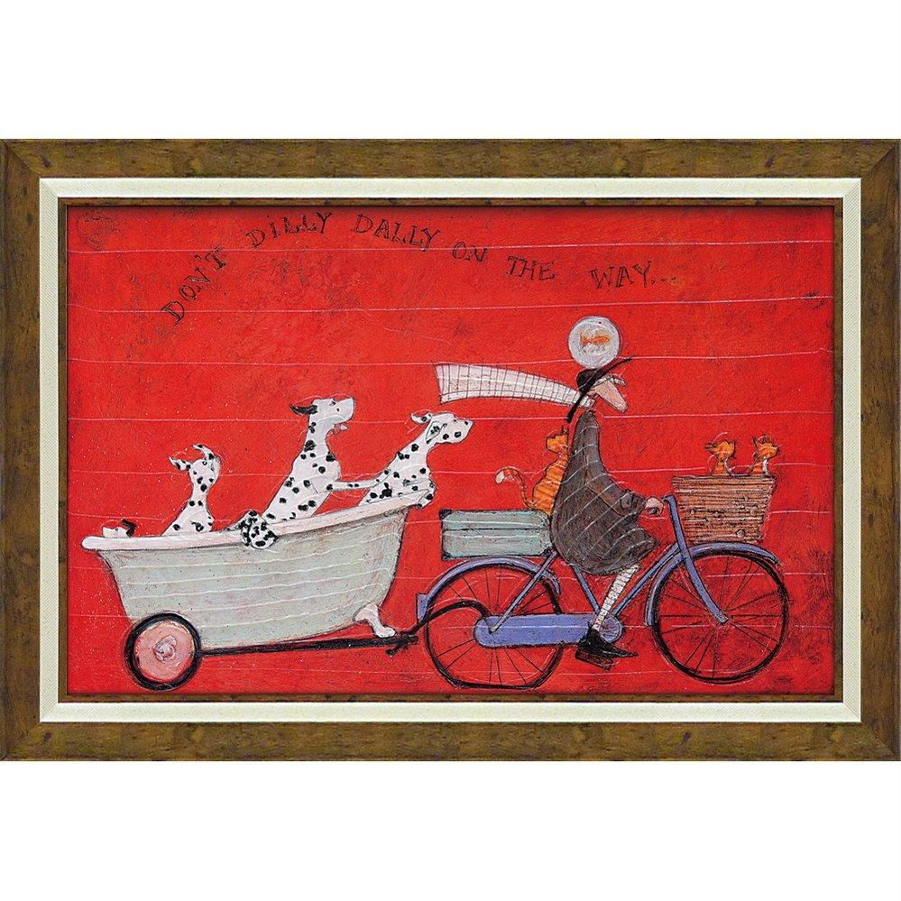 絵画 サム トフト「ドンド ディリダリー」/額入り 絵画 絵 壁掛け アート リビング 玄関 トイレ インテリア かわいい 壁飾り 癒やし プレゼント ギフト アートパネル ポスター 3Lサイズ