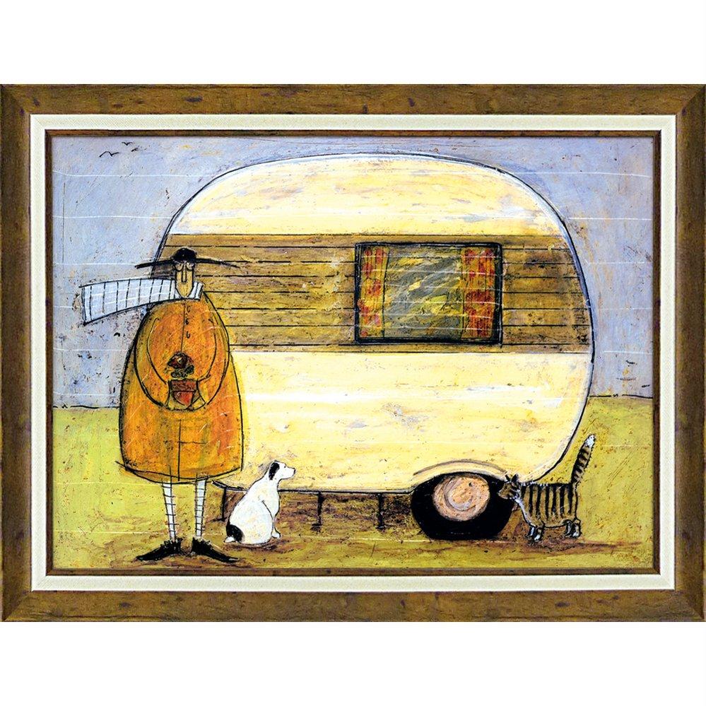 絵画 サム トフト「ホーム フロム ホーム」/額入り 絵画 絵 壁掛け アート リビング 玄関 トイレ インテリア かわいい 壁飾り 癒やし プレゼント ギフト アートパネル ポスター 3Lサイズ