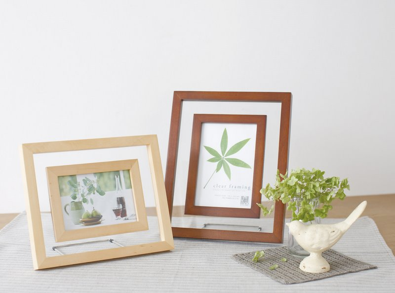 ayuwara: Clear framing wood photo frame service size, white and ...