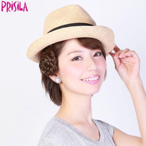 PRISILA プリシラ のウィッグコサージュ 特価品につき返品交換不可 みつあみシリーズ PG-05 直送商品 シニョン シニヨン 限定特価 プチコサージュ みつあみヘアアクセ