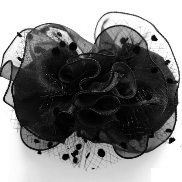 日本で縫製された上品なヘアクセサリー リボン バレッタ です 日本製 ゴージャス リボンバレッタ RVA-1155 サテン オーガンジー 入園式 ヘアスタイル まとめ髪 普段使い 入学式 卒業式 新着 未使用品 結婚式 フォーマル 卒園式