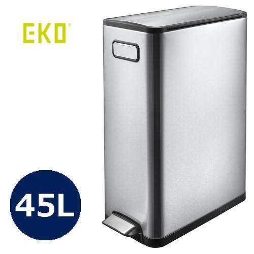 【送料無料】正面の持ち手と内蔵されたキャスターで移動も簡単。【ゴミ箱】 エコフライ ステップビン 45L/EK9377MT-45L