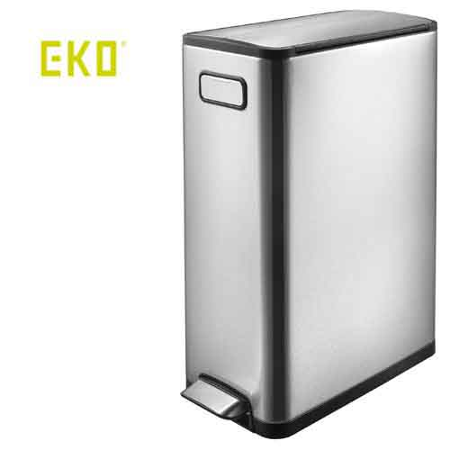 【送料無料】正面の持ち手と内蔵されたキャスターで移動も簡単。【ゴミ箱】 EKO エコフライ ステップビン リサイクル 20L+20L(合計40L)/EK9377MT-20L+20L