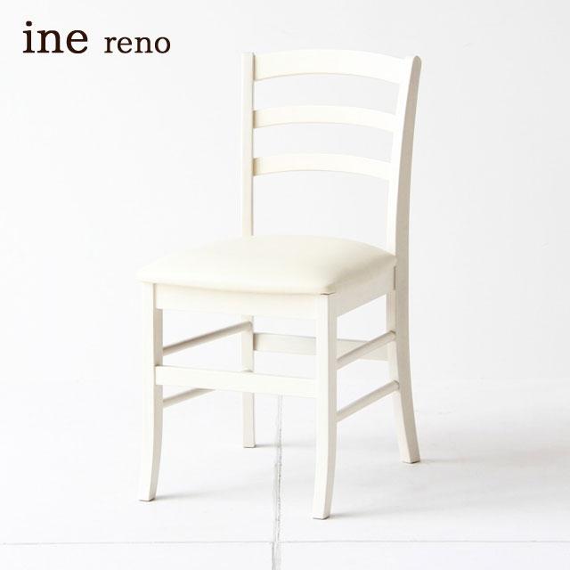 ダイニングチェアー 姫カワ おしゃれ 木製 白 椅子 イス 完成品 INC-2821WH ホワイト家具 アンティーク調 ビンテージ ICIBA 市場 inereno [アイネリノ] 送料無料