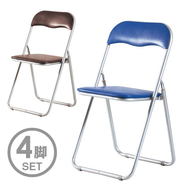 弘益 折り畳みイス[4脚組] PFC-3S×4