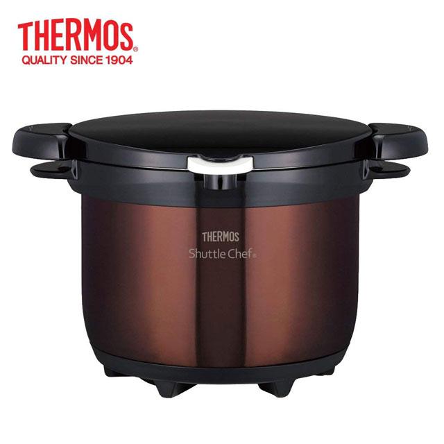 サーモス 真空保温調理鍋 シャトルシェフ クリアブラウン KBG-3000(CBR)
