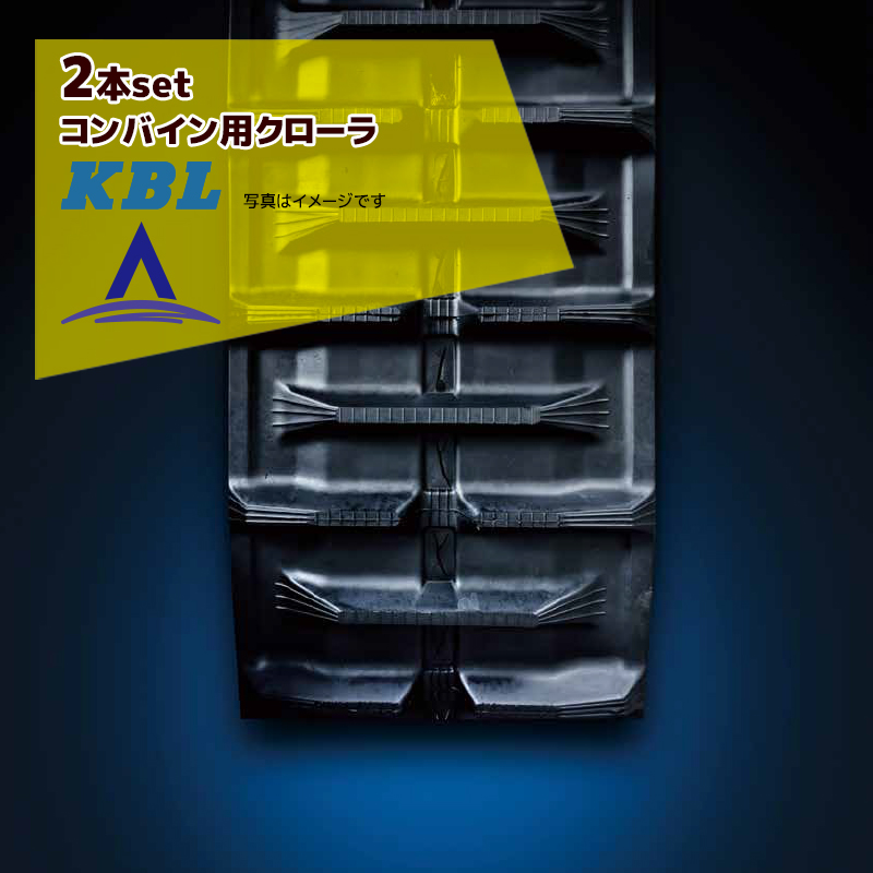 【KBL】<2本セット品>コンバイン用クローラ幅450xピッチ90xリンク55 RC4555NAS・法人様限定