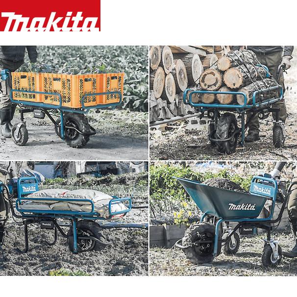 【マキタ】18Vバッテリ充電式運搬車CU180DZ+パイプフレーム荷台+BL1860Bx2個+急速充電器DC18RDセット