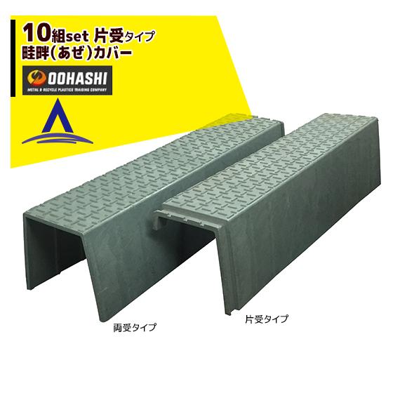 【オオハシ】<10組セット>再生プラスチック製 畦畔(あぜ)カバー 片受タイプ 1200x250x300x8mm