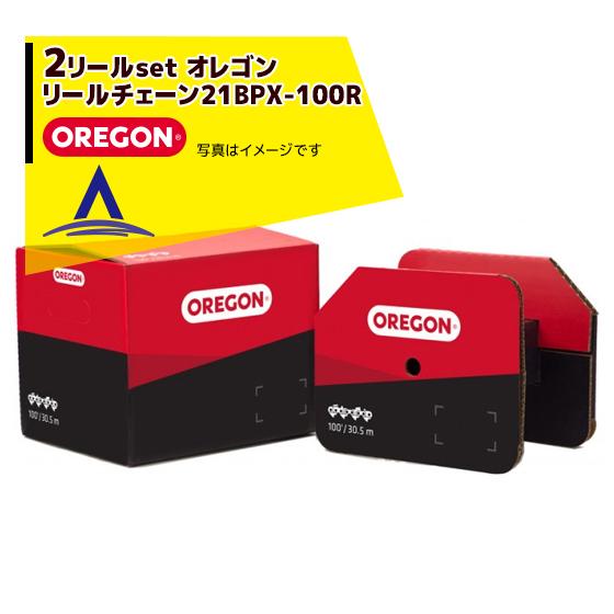 【オレゴン】 <2セット>OREGON リールチェーン 21BPX-100R MICRO CHISEL