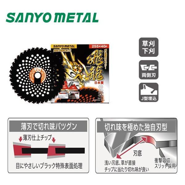 【三陽金属】飛龍255mm×40p替刃刈払機