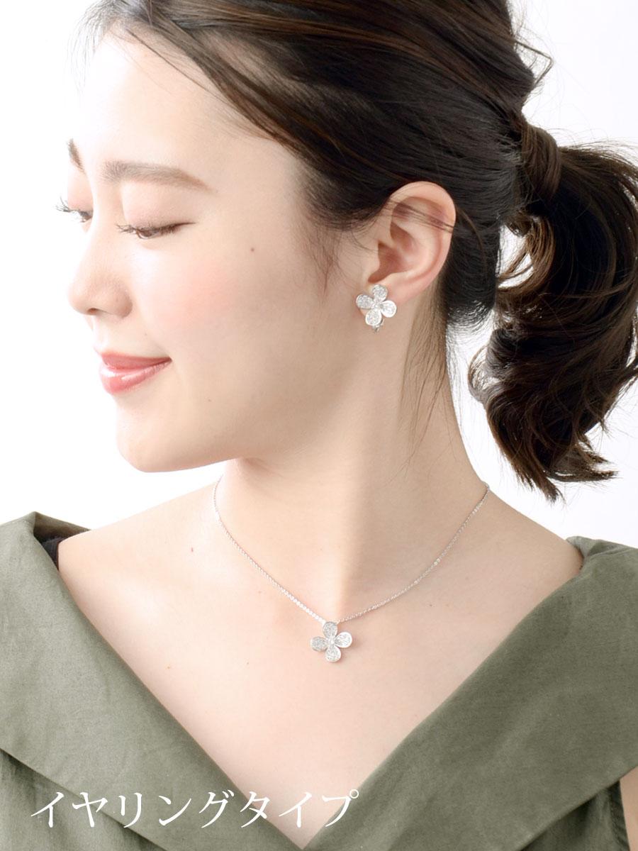 Paveflowerpias/earrings / flower cubic zirconia wedding / parties P1075 / kimono / yukata 10P01Oct16