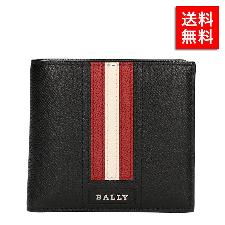 バリー 二つ折り財布 BALLY LETTERING TSP BLACK 6218013