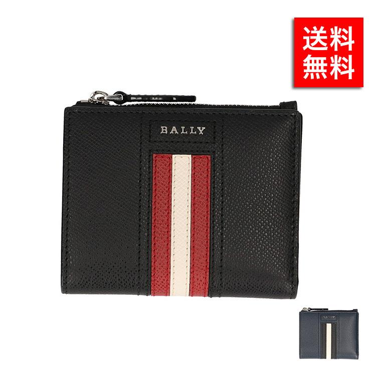バリー 二つ折り財布 BALLY LETTERING TSP BLACK 6229036