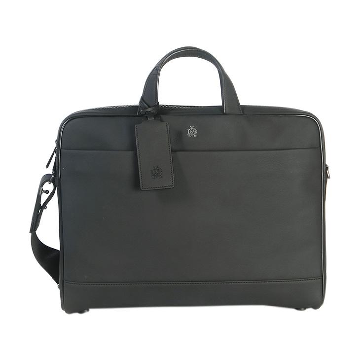 ダンヒル バッグ DUNHILLレザー L3S180A BLACK Traveller Leather ブリーフブラック カジュアル 送料無料