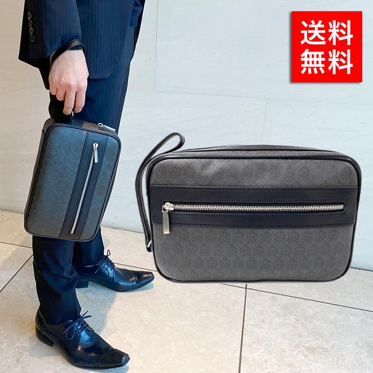 ダンヒル バッグ DUNHILL セカンドバッグ L3W791Z GRY グレー ビジネス カジュアル プレゼント ギフト 送料無料