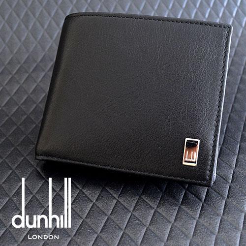 ダンヒル 財布 二つ折り財布 メンズ dunhill SIDECAR サイドカー 小銭入付 QD3070A ブラック 黒 革製 カーフレザー 人気 男性 紳士 使いやすい プレゼント 送料無料 ビジネス ブランド プレゼント ギフト