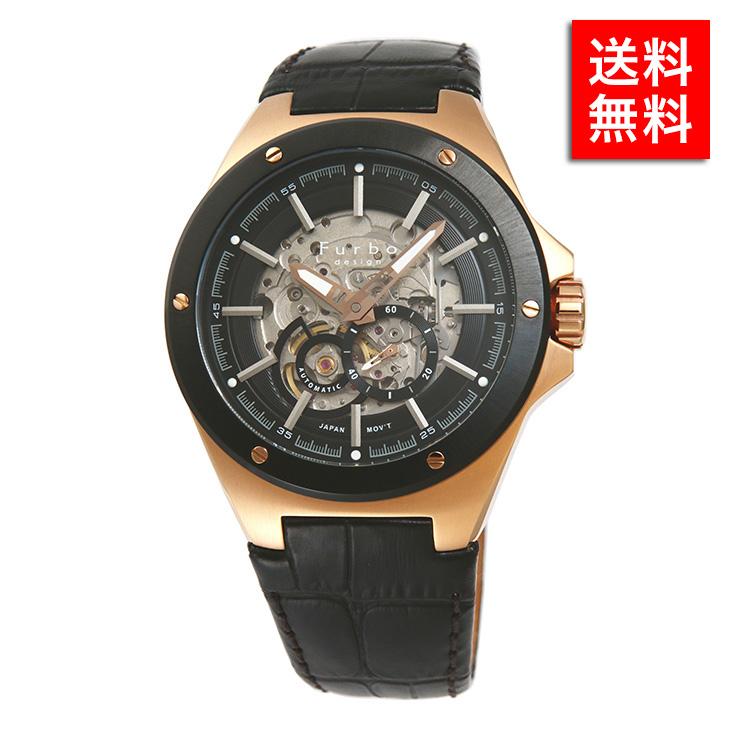 フルボデザイン 腕時計 Furbo design F2501 PBKBK メンズ ビジネス ウォッチ ステンレス