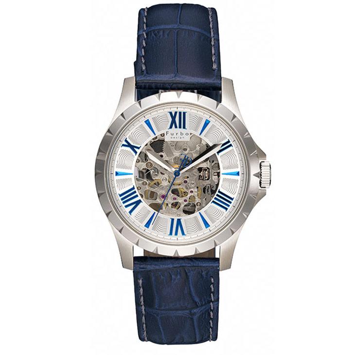 フルボデザイン 腕時計 Furbo design F5021SSIBL シルバー ネイビー メンズ ビジネス カジュアル【送料無料】 時計 【日本製 自動巻き】かっこいい オシャレ 男性 社会人 ビジネス プレゼント ギフト