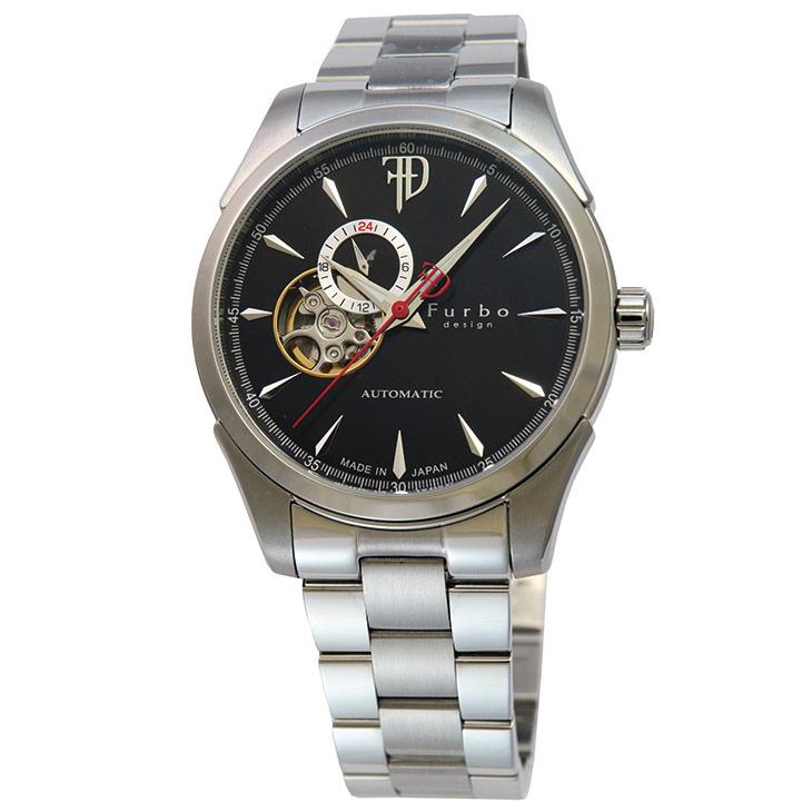 フルボデザイン Furbo design Japan Made メンズ 腕時計 日本製 F5029BKSS 時計 【日本製 自動巻き】かっこいい オシャレ 男性 社会人 ビジネス プレゼント ギフト 送料無料