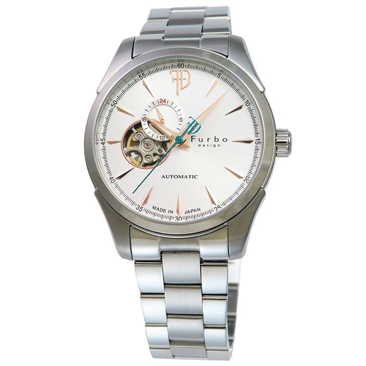 フルボデザイン Furbo design Japan Made メンズ 腕時計 日本製 F5029SISS 時計 【日本製 自動巻き】かっこいい オシャレ 男性 社会人 ビジネス プレゼント ギフト 送料無料