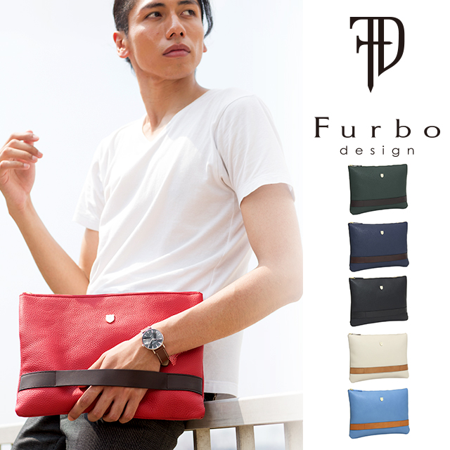フルボデザイン Furbo design シュリンク レザー クラッチ ショルダー バッグ Made In Japan Shrink Leather Clutch Shoulder Bag FRB202 シュリンク レザー クラッチ ショルダー バッグ