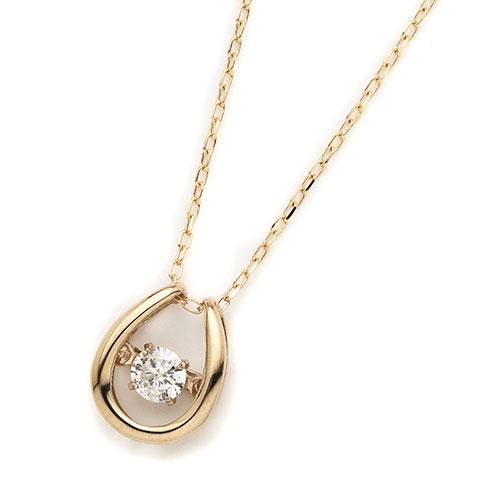 ダイヤモンドジュエリー 18金ピンクゴールド ダンシングダイヤモンド ネックレス 0.08カラット D10119141P プレゼント ギフト 送料無料