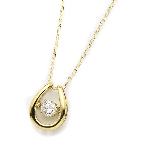 ダイヤモンドジュエリー 18金イエローゴールド ダンシングダイヤモンド ネックレス 0.08カラット D10119175Y プレゼント ギフト 送料無料