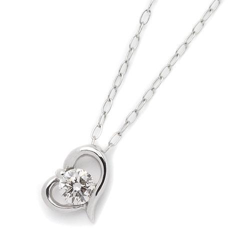 ダイヤモンドジュエリー プラチナ ダイヤモンド ネックレス 0.1カラット DN5805A プレゼント ギフト 送料無料