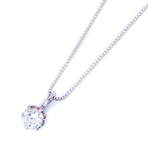 ダイヤモンドジュエリー プラチナ ダイヤモンド ネックレス 0.1カラット 鑑別カード付 DPTNC016 プレゼント ギフト 送料無料