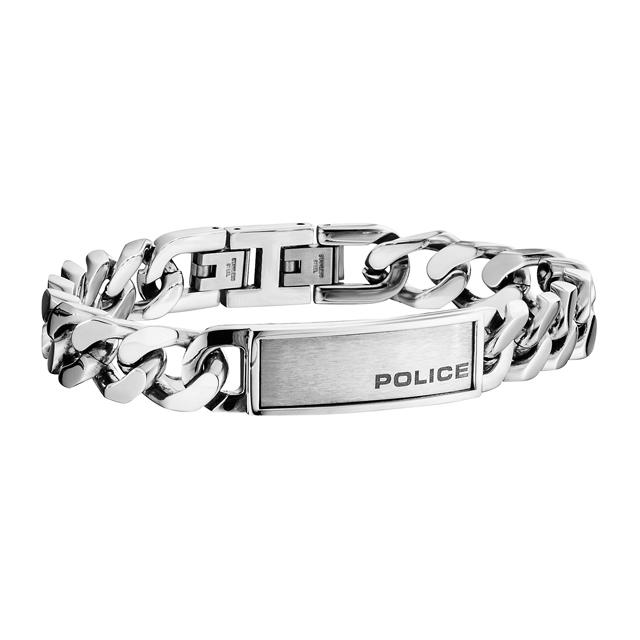 POLICE ブレスレット ポリス アクセサリー B REVENGE 25485BSS01 男性用 シルバー メンズ ビジネス ステンレス アクセサリー