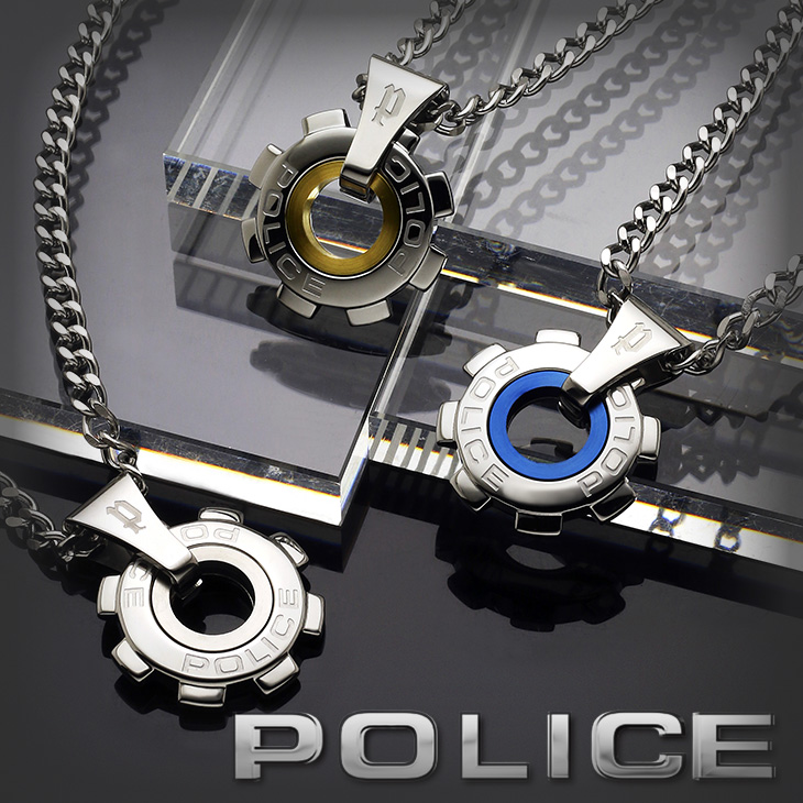 POLICE ポリス ネックレス REACTOR 24232PSN01 24232PSS01 24232PSG06 メンズ ペンダント シルバー 歯車 プレゼント ギフト 送料無料