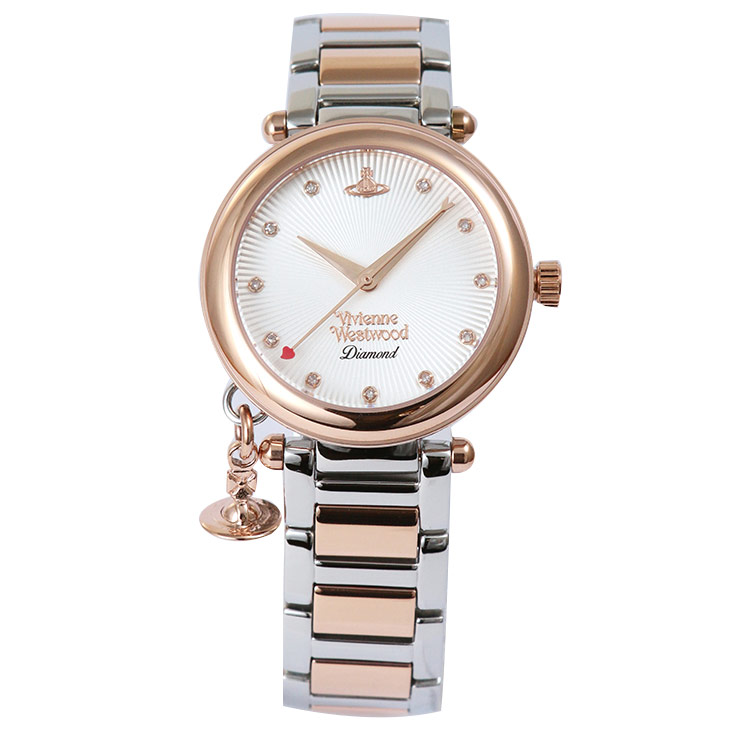 Vivienne Westwood ヴィヴィアンウエストウッド 腕時計 ORB DIAMOND VV006SLRS レディース プレゼント ギフト 時計 ウォッチ 送料無料